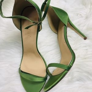 Shoes - 🆕️Green Ankle Strap Single Sole High Heels